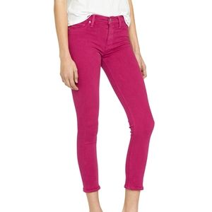 NWT Hudson Nico Jeans Cropped in Magenta
